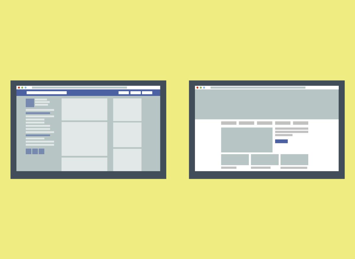 Fanpage no facebook e Site oficial: Porque sua empresa precisa ter os dois